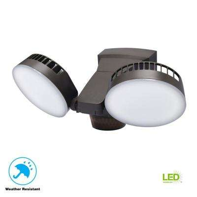 270 Degree Bronze Integrated LED Outdoor Motion Sensor Light