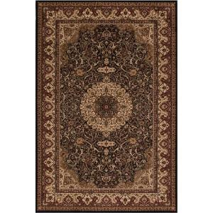 Concord Global Trading Persian Classics Isfahan Black 2 ft. 7 inch x 5 ft. Accent Rug by Concord Global Trading