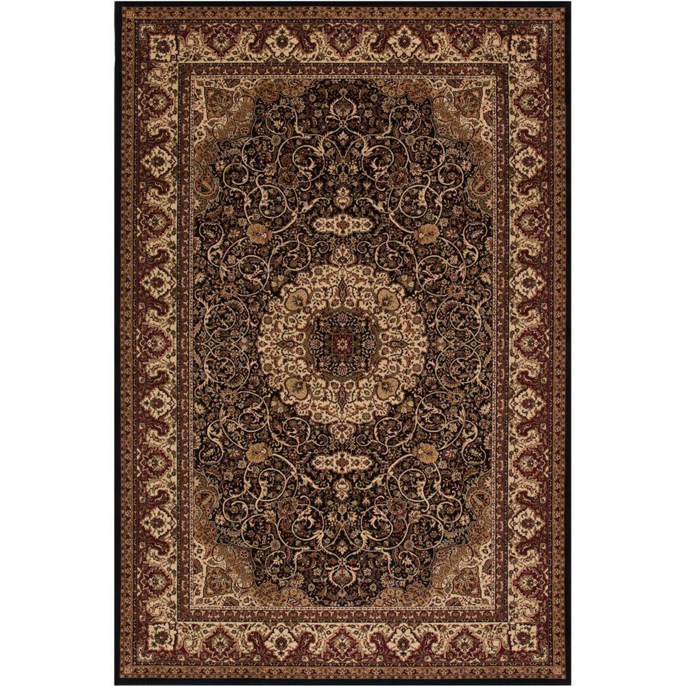 Concord Global Trading Persian Classics Isfahan Black 5 Ft