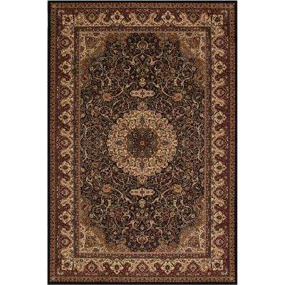 Persian Classics Isfahan Black 5 ft. 3 in. x 7 ft. 7 in. Area Rug
