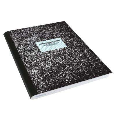 9-3/4 in. x 7-1/2 in. Black Composition Graph Ruled Book (100 Sheets)