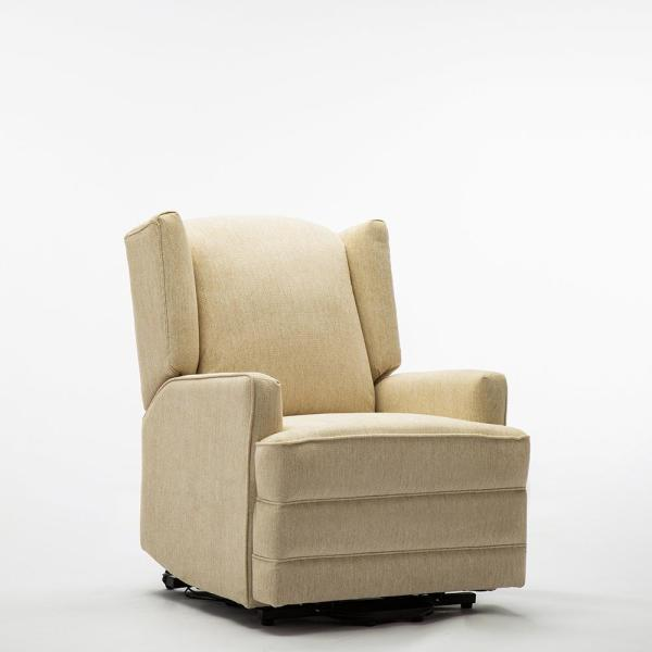 Pri Beige Fabric Power Lift Recliner Ds 1667 016 050 The