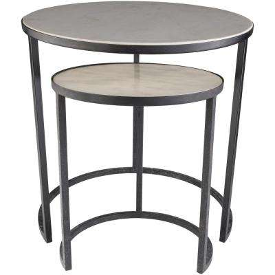 Rild 2-Piece Taupe Side Table Set