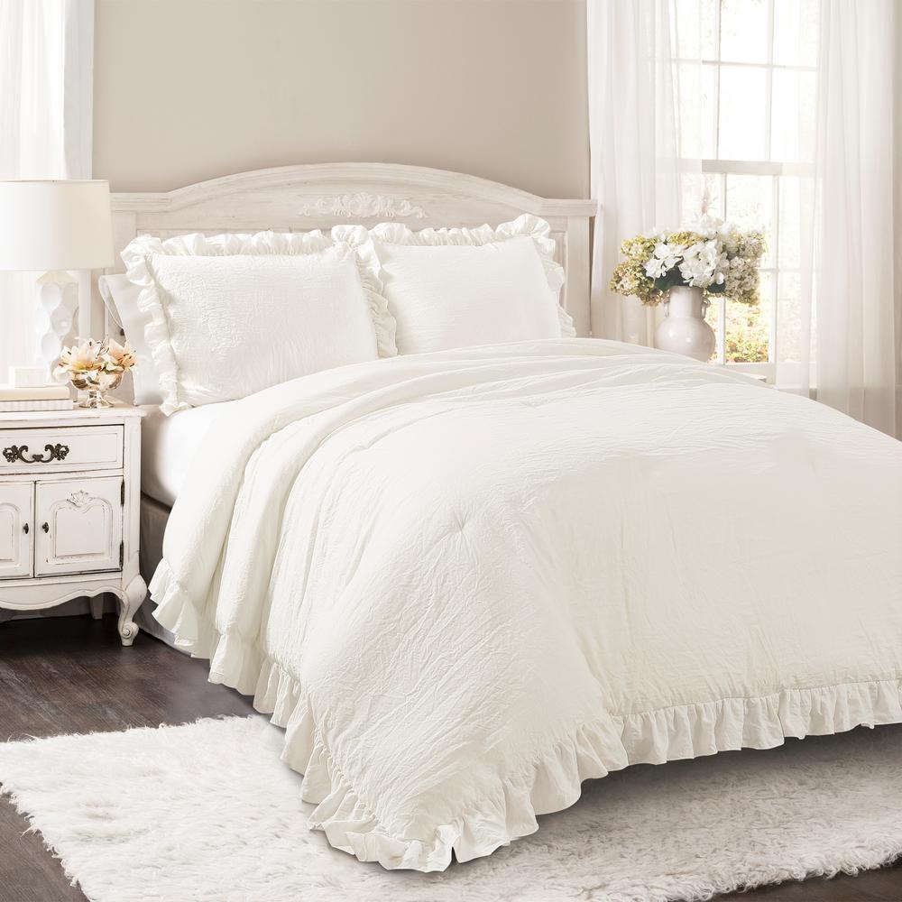 Reyna Comforter White 3-Piece King Set