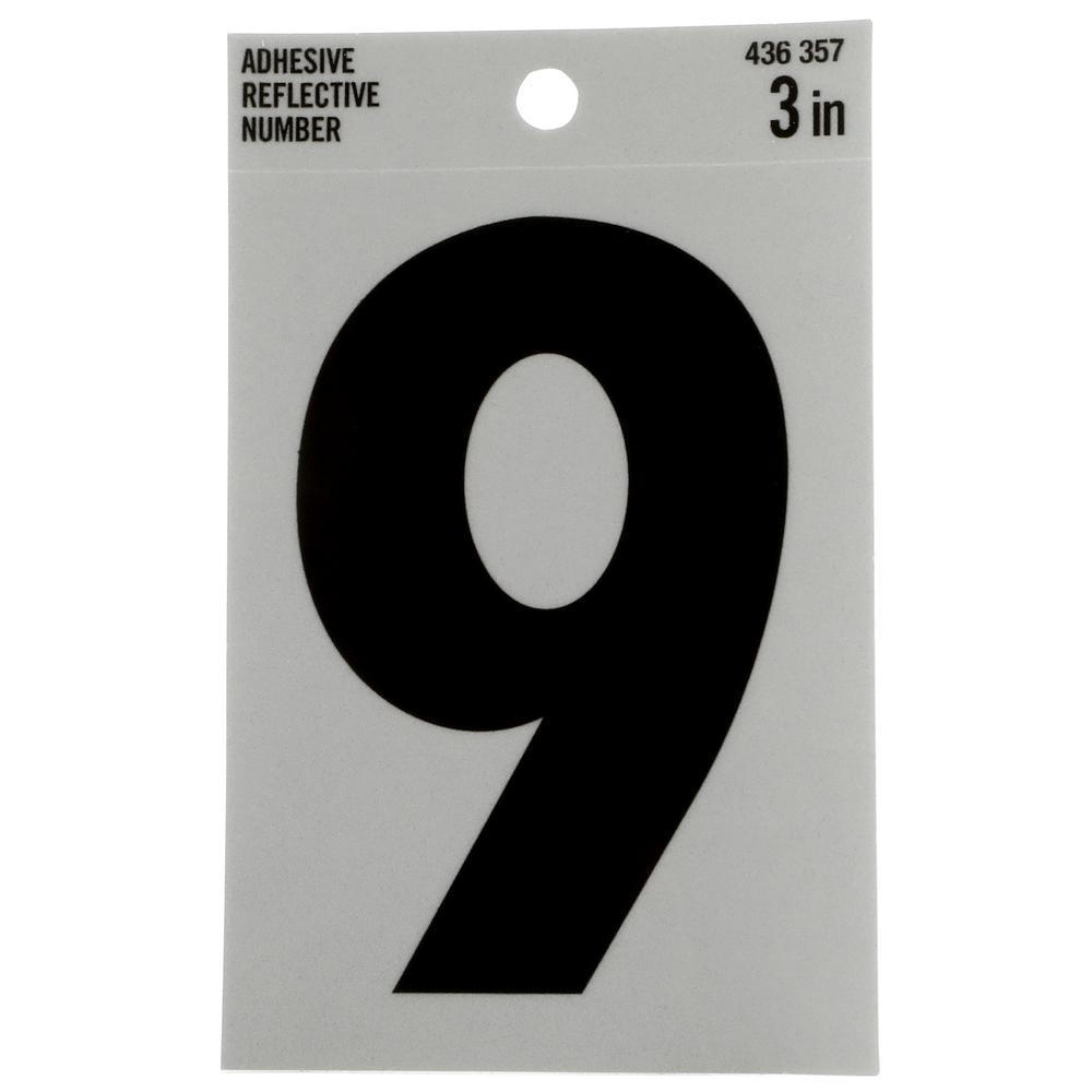Vinyl reflective number 9