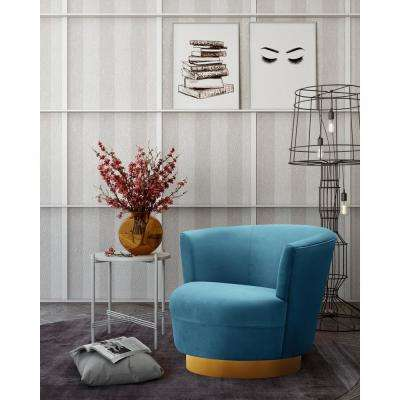 Noah Lake Blue Swivel Chair