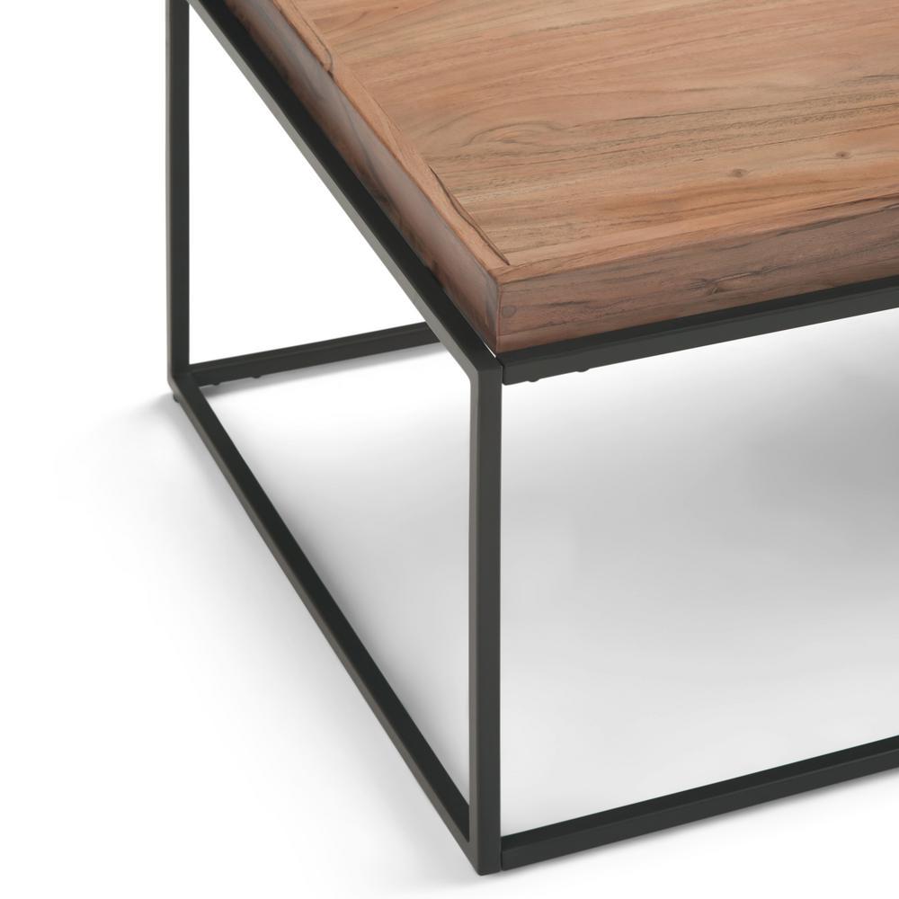 Simpli Home Carter 47 In Wide Contemporary Industrial Tray Top