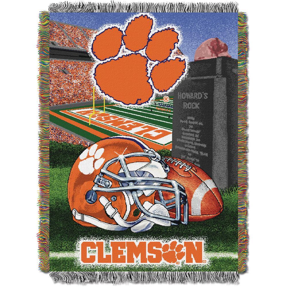 Clemson Multi Color Tapestry Throw HFA