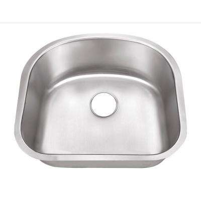 Undermount Stainless Steel 23 in. 0-Hole Single Bowl Kitchen Sink