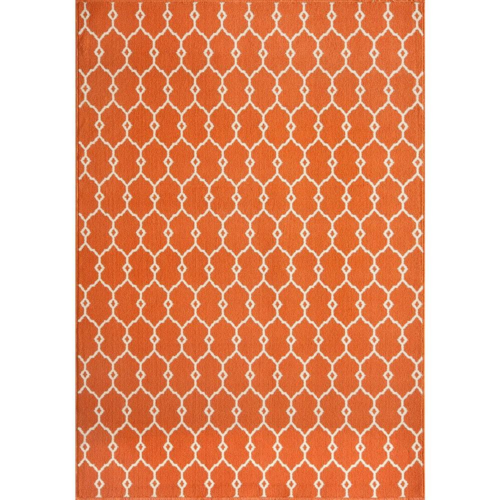Momeni Baja Orange 5 ft. 3 in. x 7 ft. 6 in. Indoor/Outdoor Area Rug