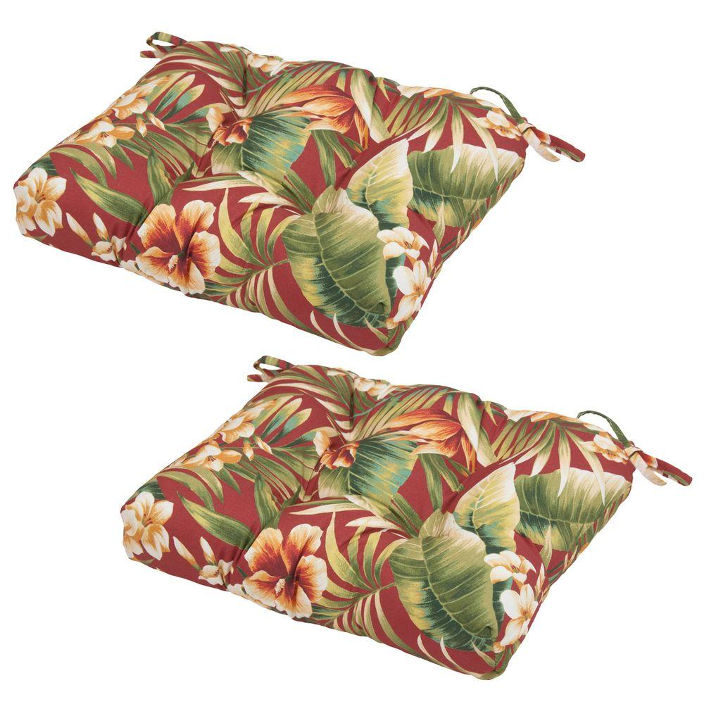19 x 18 Outdoor Chair Cushion in Standard Cypress Chili (2-Pack)