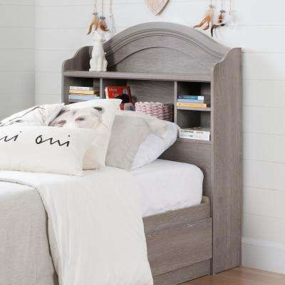 Savannah Sand Oak Twin Bookcase Headboard