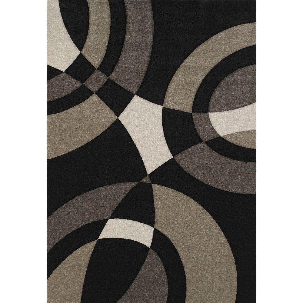 United Weavers Smash Black 5 ft. 3 in. x 7 ft. 6 in. Area Rug