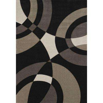 Smash Black 5 ft. 3 in. x 7 ft. 6 in. Area Rug