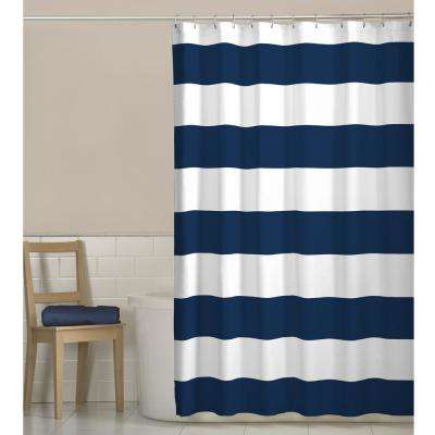 70 in. x 72 in. Porter Stripe Fabric Shower Curtain