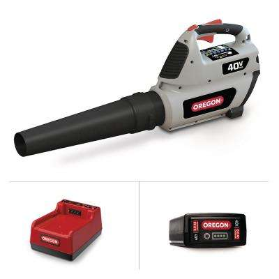 131 MPH 507 CFM 40-Volt Lithium-Ion Cordless Handheld Leaf Blower with 6.0Ah Battery and Rapid Charger