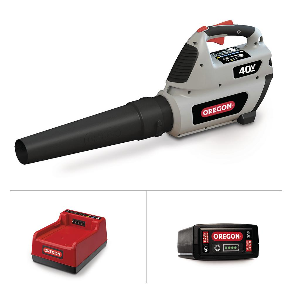 Oregon 131 MPH 507 CFM Variable-Speed Turbo 40-Volt Lithi...