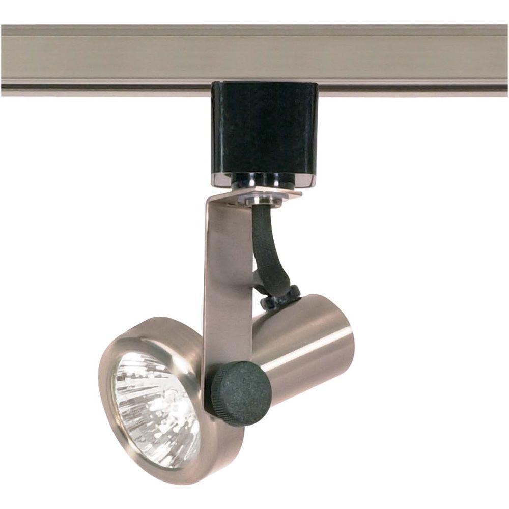 glomar 1 light mr16 120 volt brushed nickel gimbal ring track