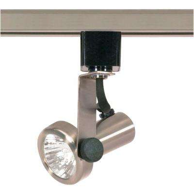 1-Light MR16 120-Volt Brushed Nickel Gimbal Ring Track Lighting Head