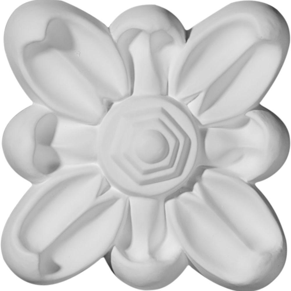 3-7/8 in. x 3/4 in. x 3-7/8 in. Emery Flower Rosette