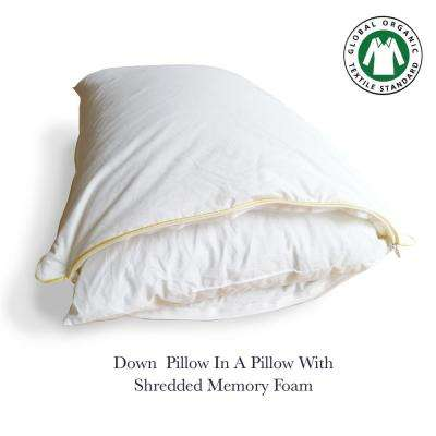 A1HC Down Pillow in a Pillow with Shredded Memory Foam Inner