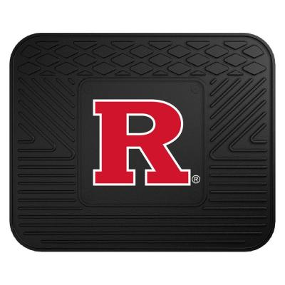 NCAA Rutgers University 14 in. x 17 in. Single-Piece Heavy Duty Vinyl Utility Mat Car Mat