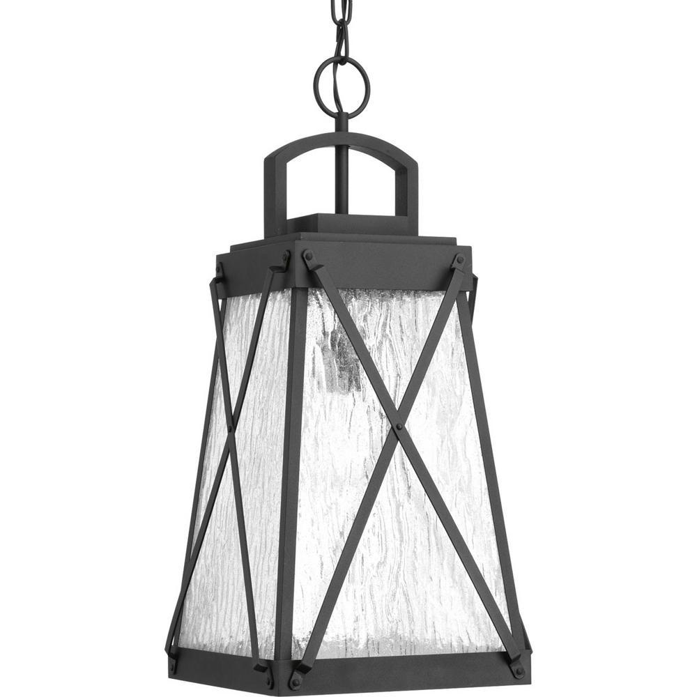 Creighton Collection 1-Light Outdoor Black Hanging Lantern