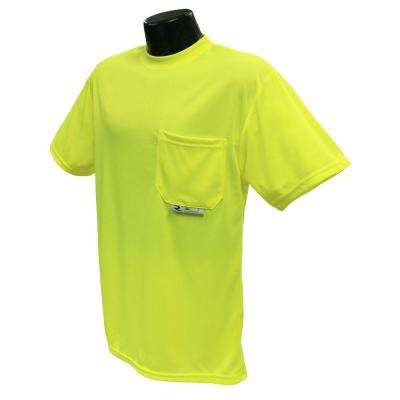 CL 2 Tshirt with Moisture Wicking green Ex Large Safety Vest