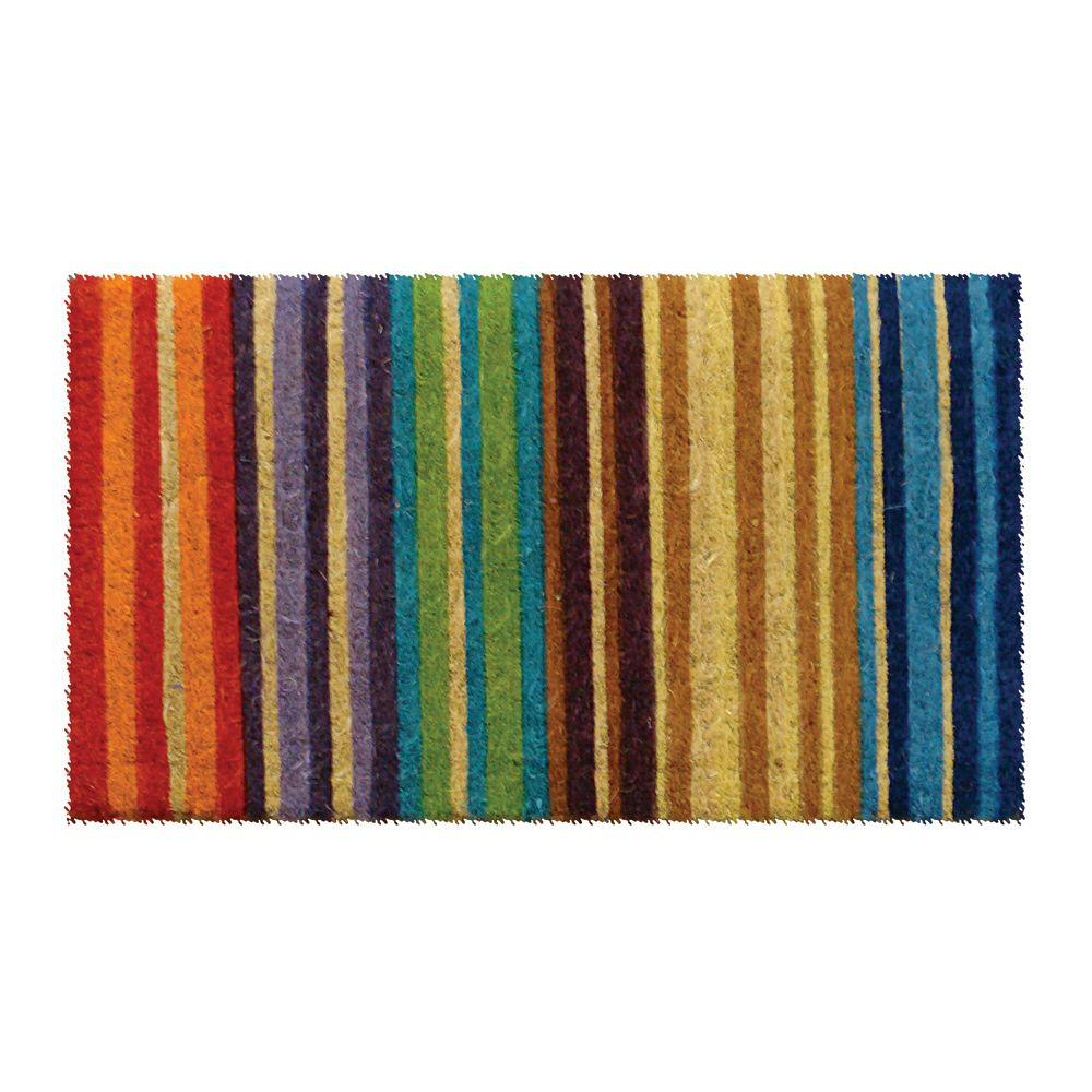Entryways Rainbow 18 In X 30 In Extra Thick Hand Woven