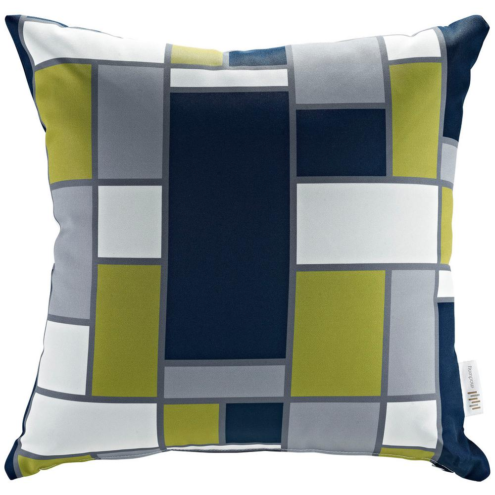 Square Outdoor Throw Pillow in Rectangle