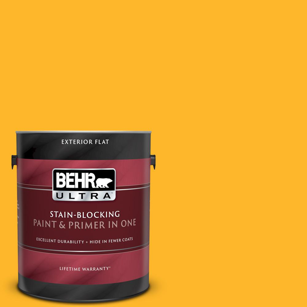 Behr Ultra 1 Gal P270 6 Soft Boiled Flat Exterior Paint And Primer In One 485301 The Home Depot