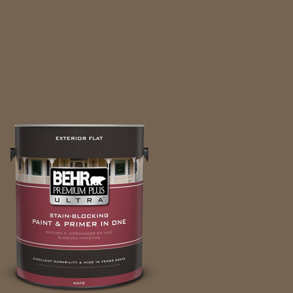 1 gal. #HDC-SM14-4 Tan Bark Trail Flat Exterior Paint