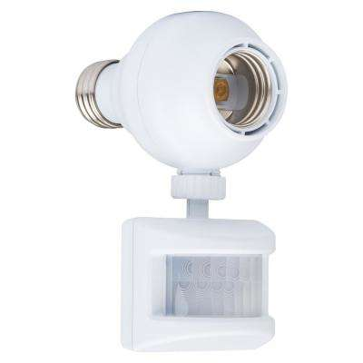 Dual Program Motion-Sensing Light Control, White