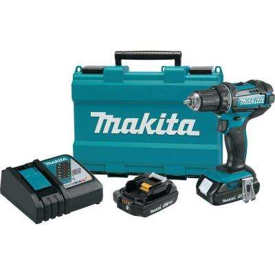 18-Volt LXT Lithium-Ion Cordless 1/2 in. XPT Drill/Driver Kit with (2) 2.0 Ah batteries, Charger and Hard Case