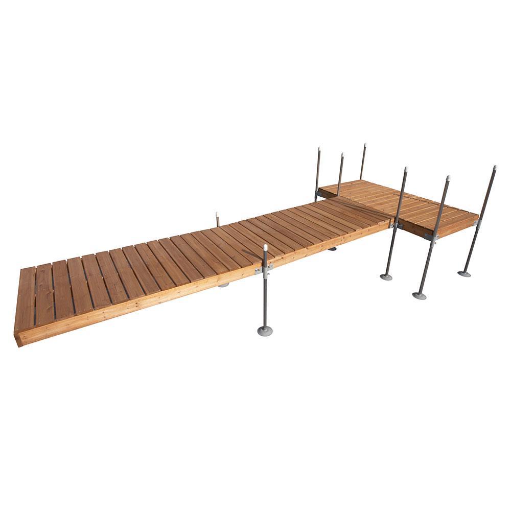 20 ft. T-Style Cedar Complete Dock Package