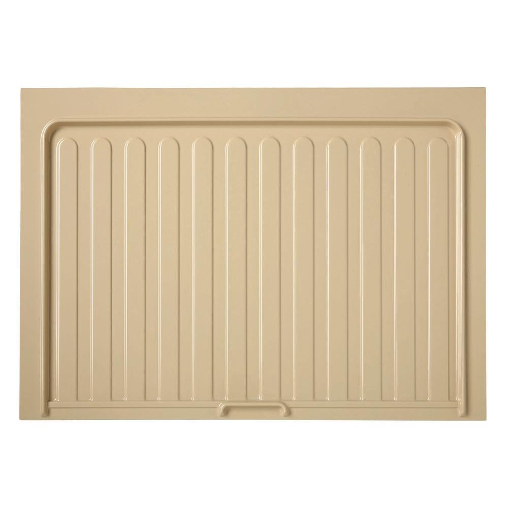 Rev A Shelf 0.72 In. H X 34.5 In. W X 23.25 In. D Medium Almond Sink Base  Drip Tray SBDT 3336 A 1   The Home Depot