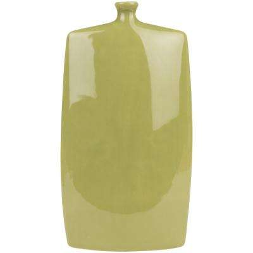 Dynrim 15 in. Green Ceramic Decorative Vase