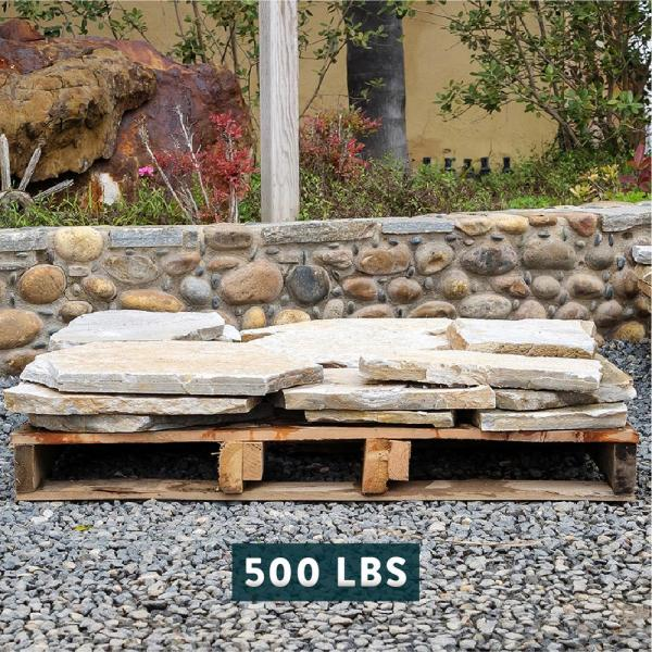 Southwest Boulder Stone 16 In X 12 In X 2 In 120 Sq Ft Autumn Flame Natural Flagstone For Landscape Gardens And Pathways 02 0186 The Home Depot