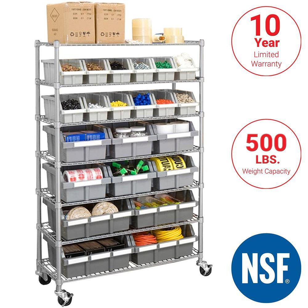 SevilleClassics Seville Classics Platinum Commercial 7-Tier NSF 22-Bin Rack Storage System