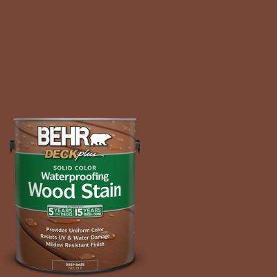 1 gal. #S200-7 Earth Fired Red Solid Color Waterproofing Wood Stain