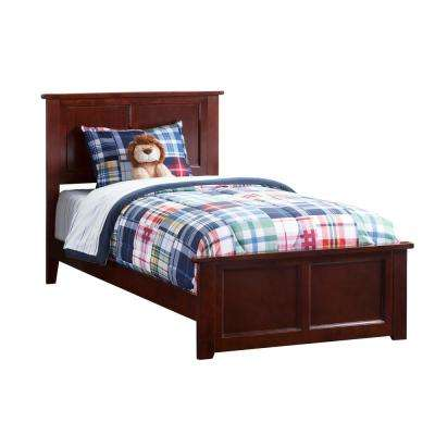 Madison Walnut Twin XL Traditional Bed with Matching Foot Board