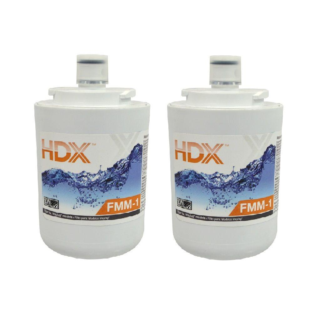 HDX FMM-1 Refrigerator Replacement Filter Fits Whirlpool Filter 7 (Value Pack)