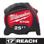 25 ft. x 1.3 in. Gen II STUD Tape Measure with 17 ft. Reach