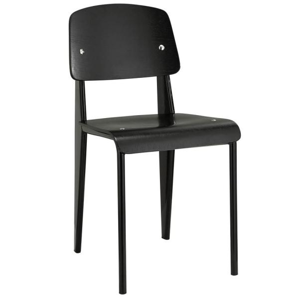 MODWAY Black Cabin Dining Side Chair EEI-214-BLK-BLK
