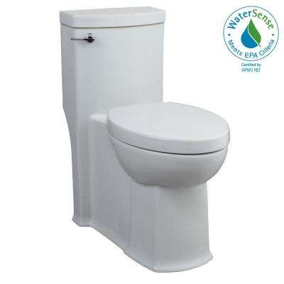 Boulevard FloWise Tall Height 1-Piece 1.28 GPF Single Flush Elongated Toilet with Concealed Trap-Way in White