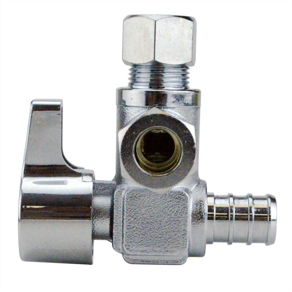 1/2 in. Chrome-Plated Brass PEX Barb x 3/8 in. Compression Dual