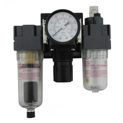 1/4 in. NPT Mini Polycarbonate FRL Air Filter Regulator and Lubricator System