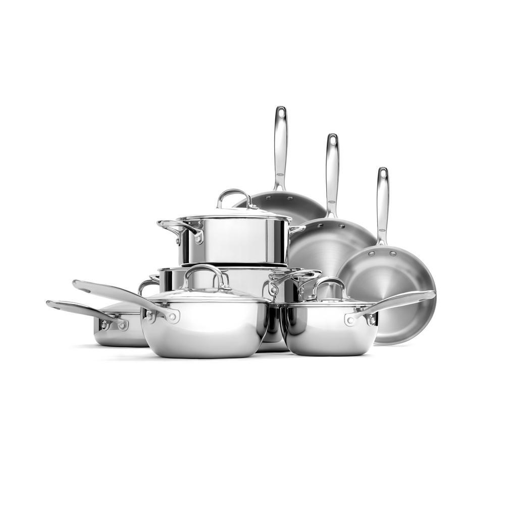 Good Grips 13-Piece Stainless Steel Cookware Set