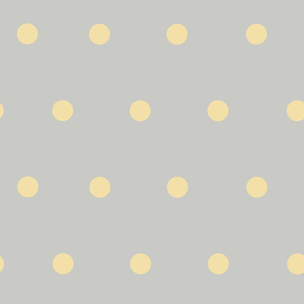 Chesapeake Kenley Peach Polka Dots Wallpaper Sample