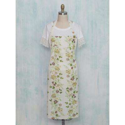 Prairie Hopsack Off White Floral Kitchen Apron